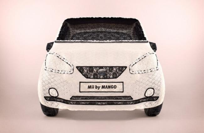 seat mii mango voiture dentelle ashley joiner 1 - Il Fabrique une Voiture SEAT Mii by MANGO tout en Dentelle