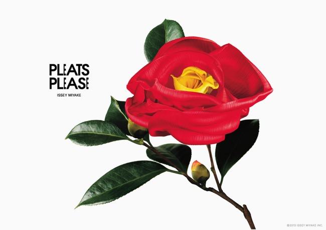 campagne issey miyake pleats please 2014 fleurs flowers 0 - Issey Miyake Pleats Please, une bien Jolie Campagne en Fleurs