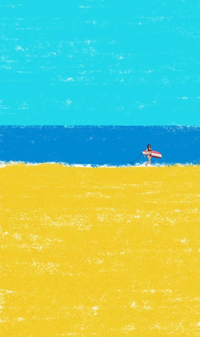 , Bord de Mer et Farniente, la Canicule vue par l'Artiste Raphaelle Martin