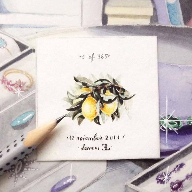 , A la Découverte des Mini Aquarelles d'Elena Limkina