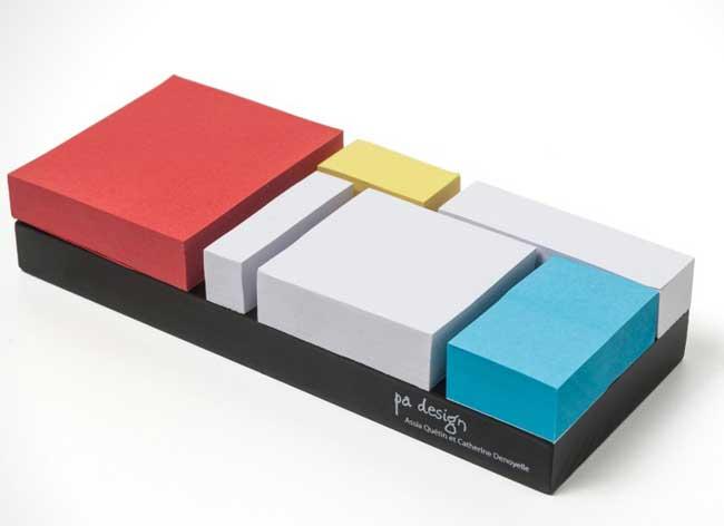 , Monde Riant, un Bloc Notes Inspirant au Style Mondrian