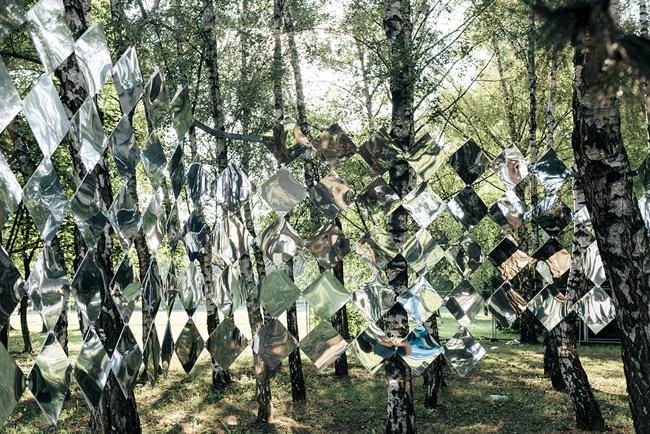 studio nomad camouflage dazzle mirror installation art foret 6 - Camouflage Dazzle en Miroir Installé dans une Foret Hongroise