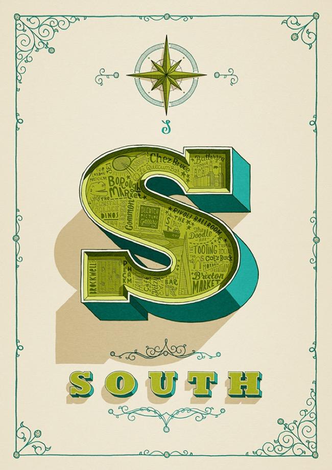, Visite Illustrée et Typographique de Londres par ses Points Cardinaux