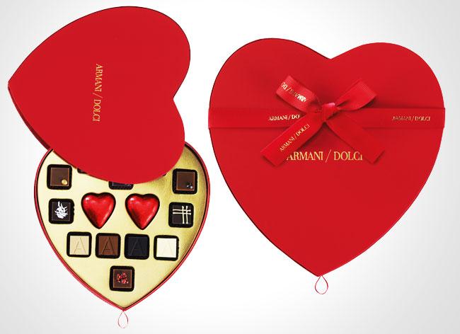 Giorgio Armani Dolce Saint Valentin Chocolats 2015 2 - Giorgio Armani Fete la Saint Valentin en Coeur et en Chocolat