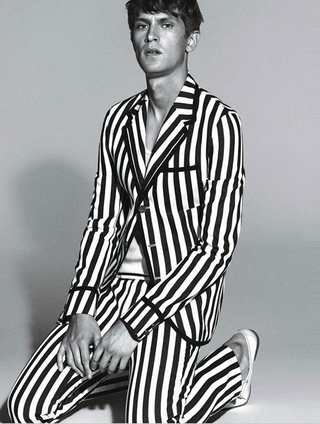 , Gucci Homme Printemps Ete 2015 : Au Programme Rayures et Grisaille