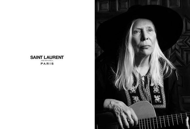 , A 71 ans Joni Mitchell Chanteuse Star des Années 70 Joue les Egéries Saint Laurent