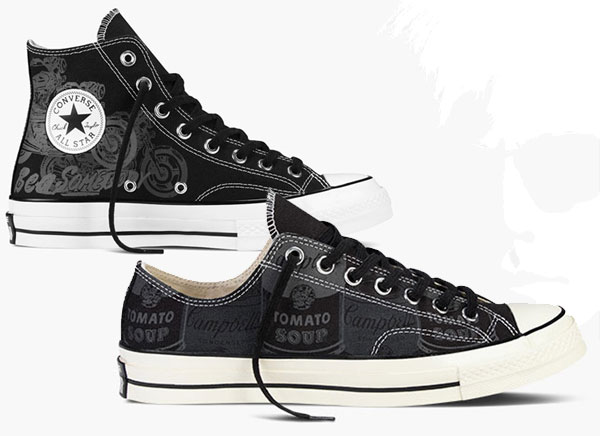 , Converse Chuck Taylor x Andy Warhol : Baskets Pop Art Hautes en Couleurs