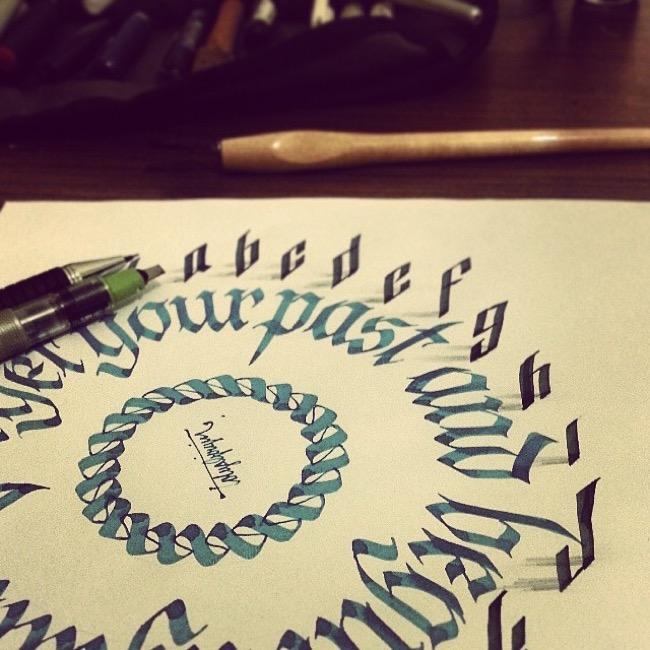 calligraphie3d tolga girgin 11 - Ces Calligraphies en 3D Semblent Etre en Levitation