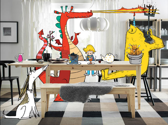 , Elle Dessine des Enfants et des Monstres dans le Catalogue IKEA