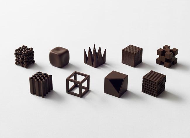 chocolatexture nendo onomatopee chocolat design 4 - Ces Chocolats Design sont des Onomatopées japonaises à Déguster