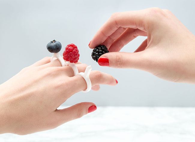 diy bagues 3d fruits gourmandises tour de fork 1 - Astucieuses Bagues à Gourmandises à Fabriquer en 3D (DIY)