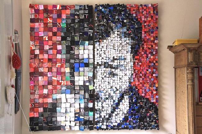 Gut bekannt Elle Recycle des Piles de Magazines Papier en Portraits 3D  ZZ54