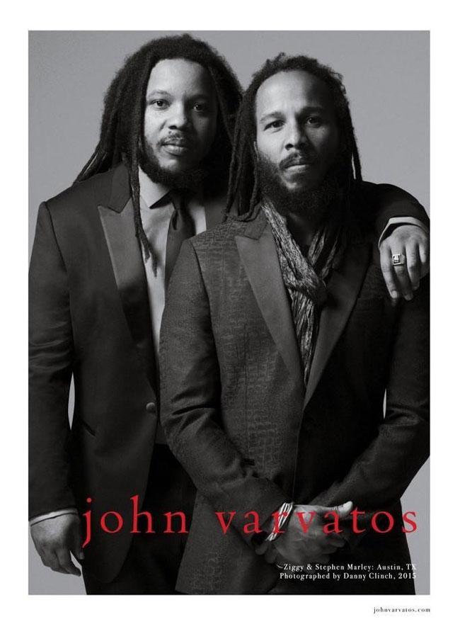 , Ziggy et Stephen Marley chez John Varvatos pour l'Ete 2015