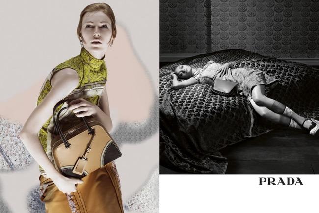 , Gemma Ward pour Prada Eté 2015 : Des Stars et des Sacs