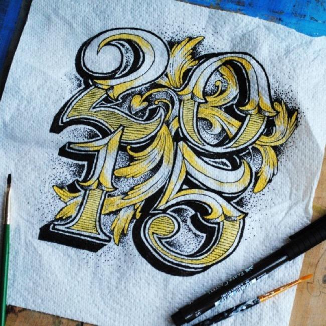 , Etonnantes Calligraphies Dessinées sur d'Improbables Supports