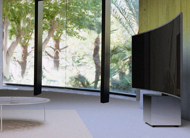 yves behar samsung televiseur incurve 21 9 s9w ultra hd tv 3 - Yves Behar signe pour Samsung le plus Grand Televiseur SUHD