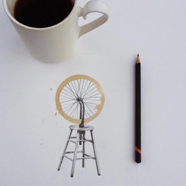, Quand les Taches Rondes de Café se Transforment en Créativité