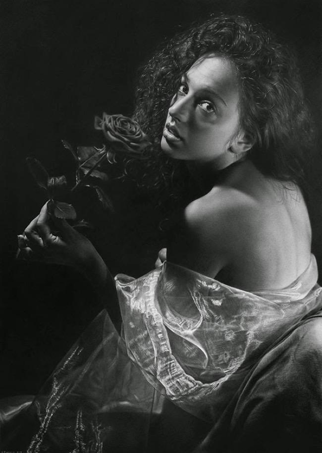 emanuele dascanio dessin photo realisme crayon fusain 1 - Ces Captivants Photos Portraits sont des Dessins au Crayon