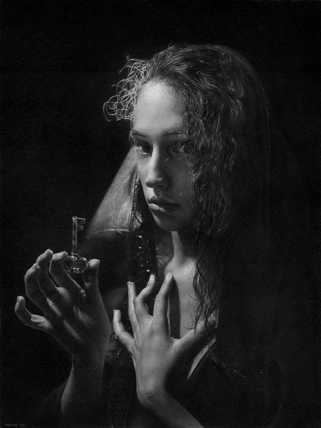 emanuele dascanio dessin photo realisme crayon fusain 7 - Ces Captivants Photos Portraits sont des Dessins au Crayon