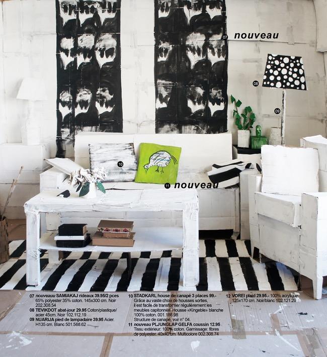 , Tout le Mobilier de ce Faux Catalogue Ikea est en Carton