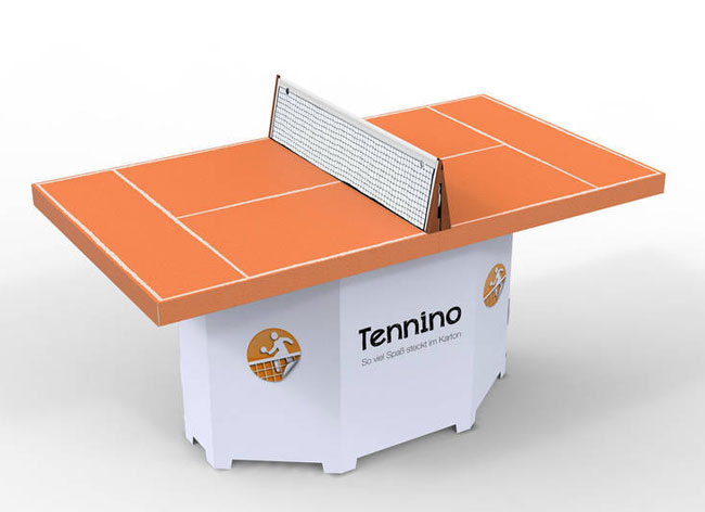 kickpack baby foot table ping pong tennis carton 3 - Après le Baby-Foot, voici la Table de Ping-Pong en Carton (video)