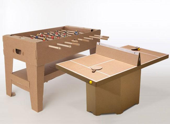 kickpack baby foot table ping pong tennis carton 4 - Après le Baby-Foot, voici la Table de Ping-Pong en Carton (video)