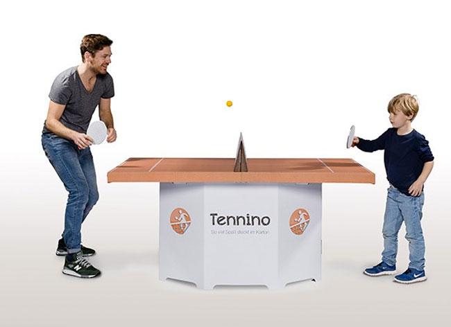 kickpack baby foot table ping pong tennis carton 5 - Après le Baby-Foot, voici la Table de Ping-Pong en Carton (video)