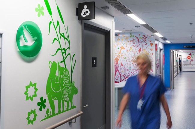 , Le Royal Hôpital pour Enfants à Londres Transformé en Amusante Galerie d'Art