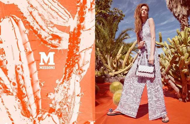 , M Missoni Femme Ete 2015, une Campagne Radieuse et Ensoleillée