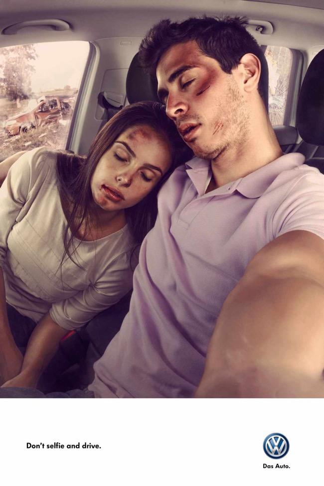 , Faire des Selfies au Volant c'est Mortel… Une Campagne Choc !