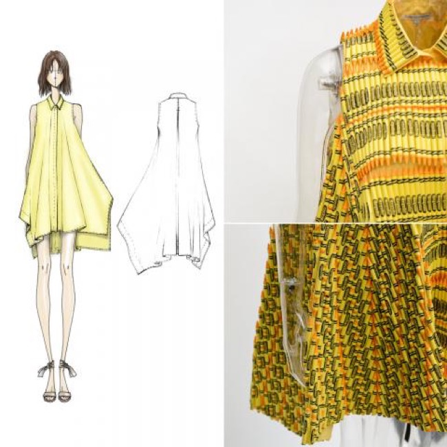 , 18000 Crayons Crayola pour des Robes aux Couleurs Printanières