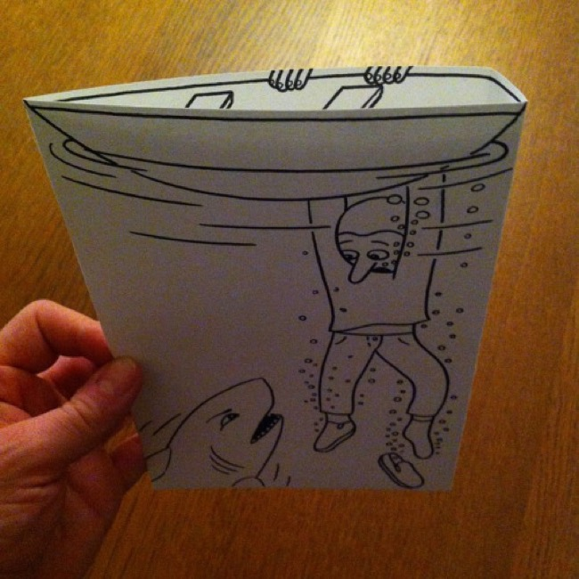, Etonnante Interaction entre le Dessin et la Feuille de Papier