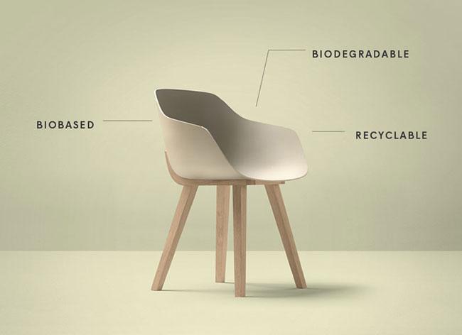 , La Première Chaise Design en Bioplastique par Jean Louis Iratzoki