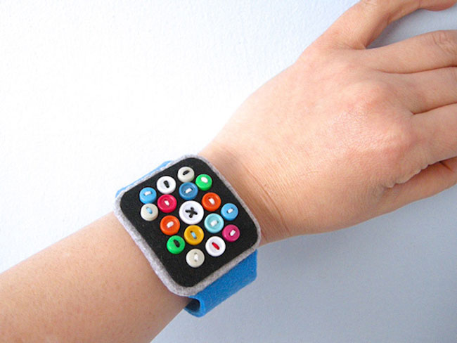 , Amusante Montre Apple Watch à Confectionner en Feutrine (DIY)