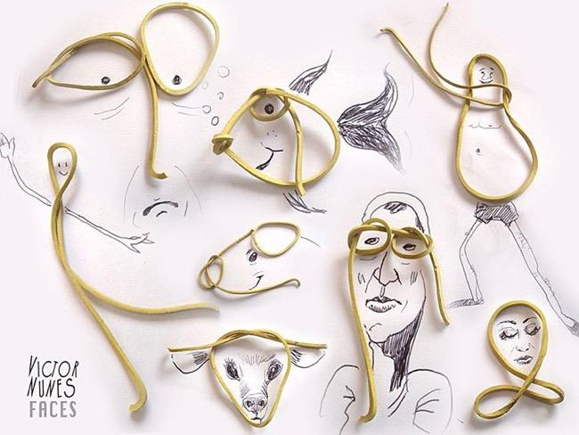 , Amusantes Illustrations 3D faites d'Objets du Quotidien par Victor Nunes