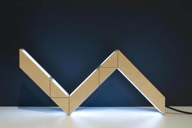 , Lampe Serpent Modulable au Design Géométrique et Ludique