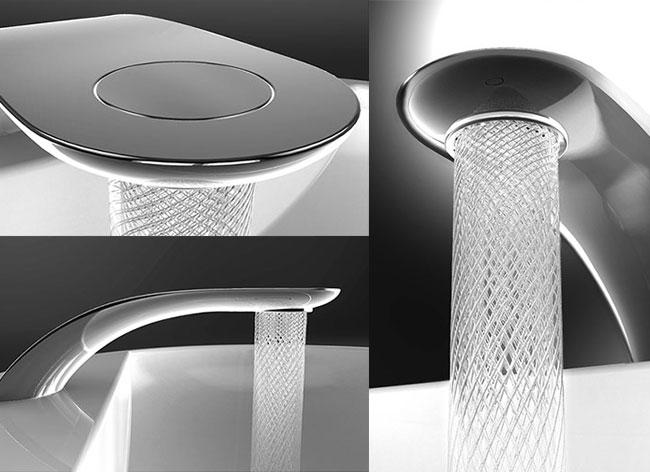 simin qiu swirl mitigeur robinet economiseur eau 2 - Swirl, le Mitigeur Tactile qui Sculpte l'Eau en l'Economisant