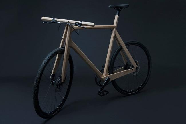 wooden bike paul timmer velo ecologique bois cadre 0 - Wooden Bike, un Elegant Vélo en Bois et sans Chaine
