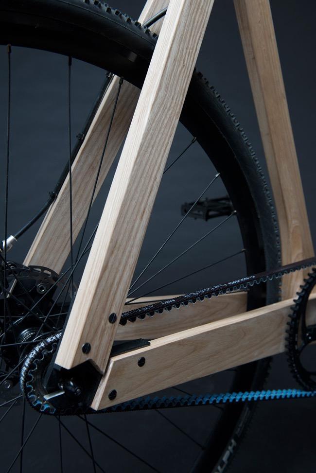 , Wooden Bike, un Elegant Vélo en Bois et sans Chaine