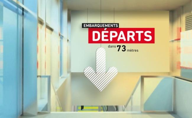 , Signalétique en Anamorphose à l'Aéroport de Lyon St-Exupéry