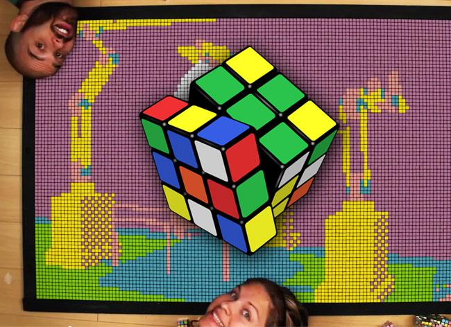 , 1296 Rubiks Cube pour un Film d'Animation à Couper le Souffle (Video)