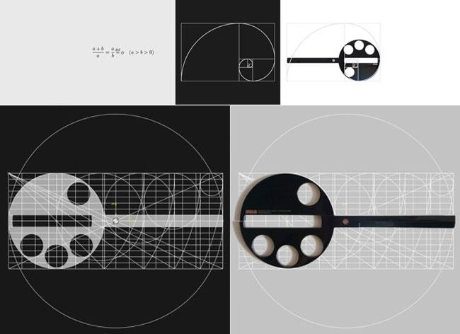 , Ces Ciseaux au Design Mathématique s'Inspirent du Nombre d'Or