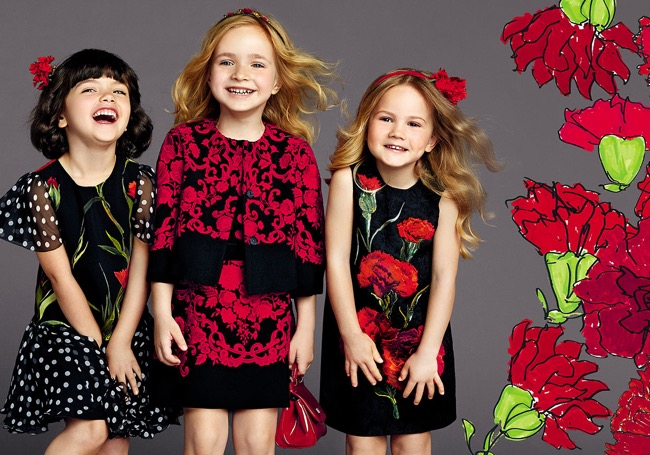 , Dolce & Gabbana Enfants Ete 2015, Bonne Humeur en Rouge et Noir