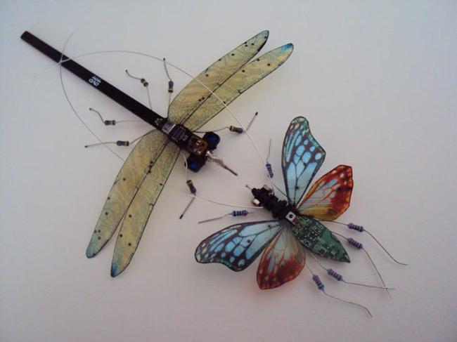 , Incroyable, Ces Sculptures de Papillons sont des Composants Électroniques