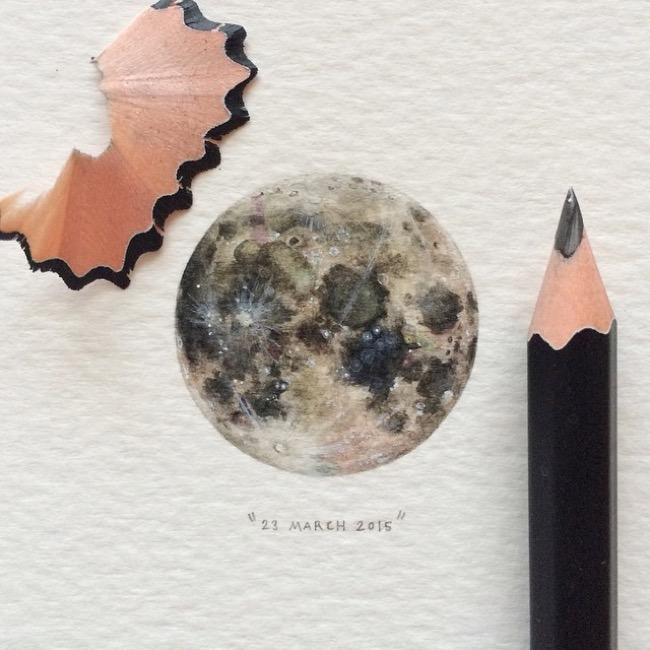 lorraine loots peintures miniatures, Toute l'Immensité de l'Univers en de Sublimes Aquarelles Miniatures