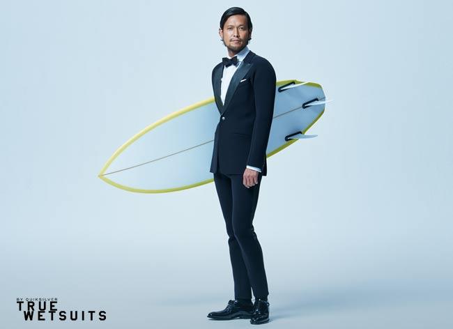 quicksilver true wetsuits costume tuxedo surf waterproof 1 - Quiksilver True Wetsuit, le Costume pour Gentlemen Surfers (video)