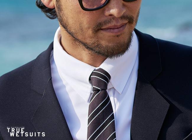 quicksilver true wetsuits costume tuxedo surf waterproof 5 - Quiksilver True Wetsuit, le Costume pour Gentlemen Surfers (video)