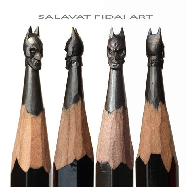 , Sur la Pointe de son Crayon de Papier, Il Realise des Sculptures Miniatures