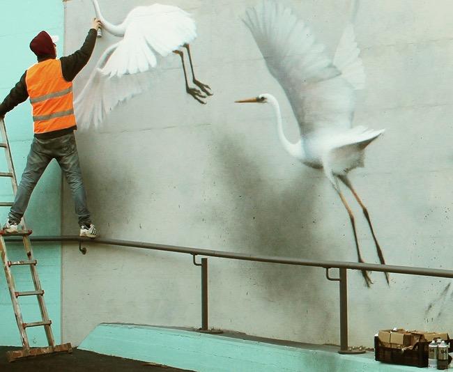 oiseaux eron street art italie 4 - Les Oiseaux d'Eron, le plus Poète des Street-Artistes Italiens (video)