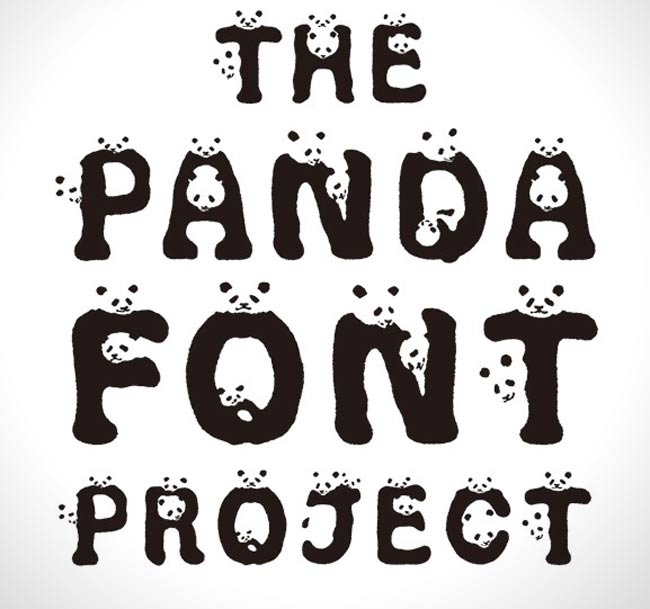 , Des Pandas en Police de Caractères pour Sauver une Espèce en Danger